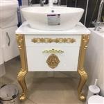 روشویی کابینتی سلطنتی C طلایی با سنگ ژوپیتر گاتریا