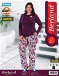 بلوز شلوار سایز بزرگ زنانه ترک -  Berland 3018
