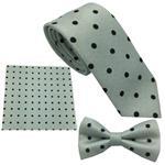ست کراوات پاپیون و  دستمال جیب هکس ایران مدل SET-TRH TS B