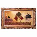 تابلو فرش دستباف و ان یکاد و کعبه و مسجد النبی سی پرشیا کد 901554