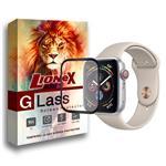 محافظ صفحه نمایش 5D لایونکس مدل Strong Shield مناسب برای اپل واچ سری 4 سایز 44 میلی متری