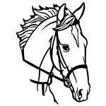 تابلو مینیمال رومادون طرح اسب کد 2438