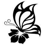تابلو مینیمال رومادون طرح پروانه کد 2449