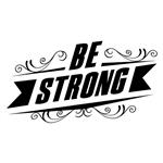 استیکر وی وین آرت طرح Be Strong کد S95