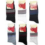 جوراب مردانه گلکار مدل رسمی مجموعه 6 عددی
