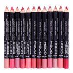 رژ لب مدادی 12 عددی جامد گاش (Gosh Lipstick)