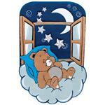 فرش کودک زرباف طرح خرس خوابالو
