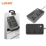 شارژر USB و سه راهی برق الدینیو LDNIO مدل SC3604