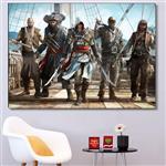 تابلو شاسی گالری استاربوی طرح بازی Assassins Creed مدل Game 19