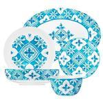 سرویس 20 پارچه غذاخوری استونی مدل آبی