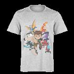 تی شرت خاکستری طرح بن تن ۱