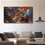 تابلو شاسی گالری استاربوی طرح Dragon Knight مدل Dota 2 کد 0131