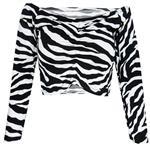 نیم تنه زنانه مدل Tiger Top رنگ مشکی