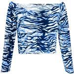 نیم تنه زنانه مدل Tiger Top رنگ آبی