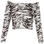 نیم تنه زنانه مدل Tiger Top رنگ کاراملی