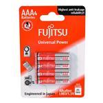 باتری نیم قلمی فوجیتسو مدل Universal Power LR03 بسته 4 عددی