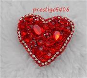 سنجاق سینه جواهر دوزی طرح قلب