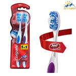 مسواک کولگیت مدل 360 OPTIC WHITE تعداد 2 عددی Colgate