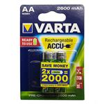 Varta VA-2600 Rechargeable AA Battery Pack of 2