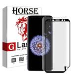 محافظ صفحه نمایش گلس یووی لایت و نانو 3D هورس مدل LVB مناسب برای گوشی موبایل سامسونگ Galaxy S8 Plus مجموعه دو عددی