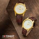 ست ساعت مردانه و زنانه Tissot مدل W6325 (قهوه ای)