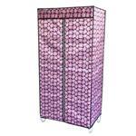 کمد لباس ارگانایزر اشکاف 75x160x50cm طرح گلدار