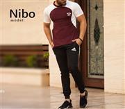 ست تیشرت و شلوار Adidas مدل Nibo