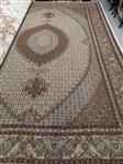 جفت 6 متری گل ابریشم طرح ماهی زمینه کرمی رج 50