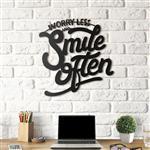 استیکر چوبی هوم لوکس طرح Smile