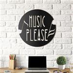 استیکر چوبی هوم لوکس طرح Music please