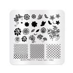 شابلون طراحی ناخن برن پرتی مدل Flower yarn S002