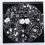 دفتر نقاشی دست ساز طرح کابوس