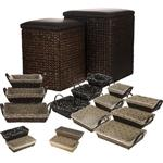 Saha Leather 18 Pieces Laundry Baskets
