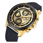 Fashion Unique Design Men Sport Watches Men's Date Quartz Clock Gold Army Military Leather Wrist Watch