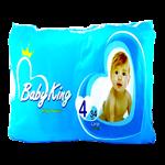پوشک بی بی کینگ سایز 4 بسته 34 عددی Baby King