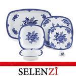 چینی زرین سرویس غذا خوری 27 پارچه چینی زرین ایران سری کواترو مدل فلورانس  درجه یک zarin florans 27 pcs