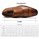 کفش چرمی مردانه La Milano ، کفش مردانه آکسفورد کلاسیک مدرن لباس مجلسی آکسفورد