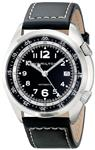 Hamilton Men's H76455733 Khaki Aviation Stainless Steel Watch with Black Leather Band
