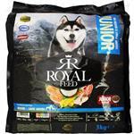 غذای خشک توله سگ 6 تا 18 ماهه نژاد متوسط و بزرگ برند Royal Feed