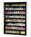 80 Zippo Lighter Lighters Match Books Matches Display Case Cabinet Wall Rack Holder Lockable w/98% UV Door (Black Wood Finish)