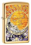 Zippo Custom Lighter: Fusion Sun and Moon - High Polish Brass 78780