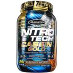 MuscleTech NitroTech Casein Gold Protein Powder, Sustained-Release Micellar Casein, Chocolate Supreme, 2.5lbs