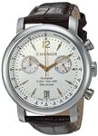 Wenger Men's 'Urban Classic Chrono' Swiss Quartz Steel-Two-Tone and Leather Casual Watch