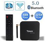 Tanix TX6 TV Box Android 9.0 tv Box 4GB/32GB 4K TV Allwinner H6 Quad core ARM Cortex-A53 H.265 Decoding 2.4GHz/5GHz WiFi