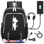 YOYOSHome Luminous Japanese Anime Cosplay Daypack Bookbag Laptop Bag Backpack School Bag with USB Charging Port (Dragon Ball Z 3)