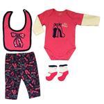 ست 4 تکه لباس نوزادی مدل banoo کد 23