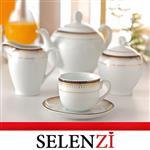 سرویس چایخوری خاطره ایتالیا اف زرین درجه یک 17 پارچه