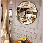 ساعت دیواری آینه ای عقیق مدل ونیز