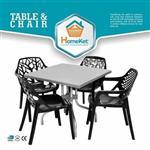 صندلی آتیلا دسته دار نقش اسپسرال مربع هوم کت