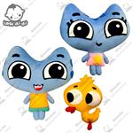 عروسکهای جوجه اردک ، کاتیا و کوتیا-کارتن گربه ها حمله(کارتون کیت کیت بازیگوش)